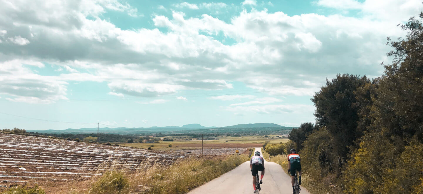 Two road cyclists in Mallorca